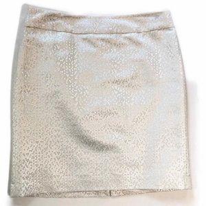 NWT LOFT White Shimmer Pencil Skirt 8